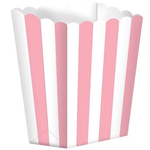 Popcorn Boxes rosa/weiß gestreift