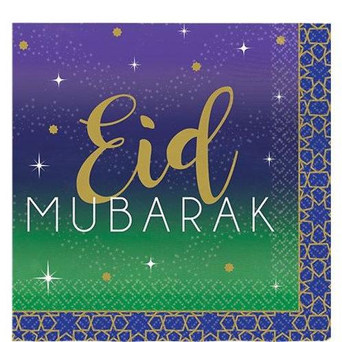 """Servietten """"Eid Mubarak"""", klein"""