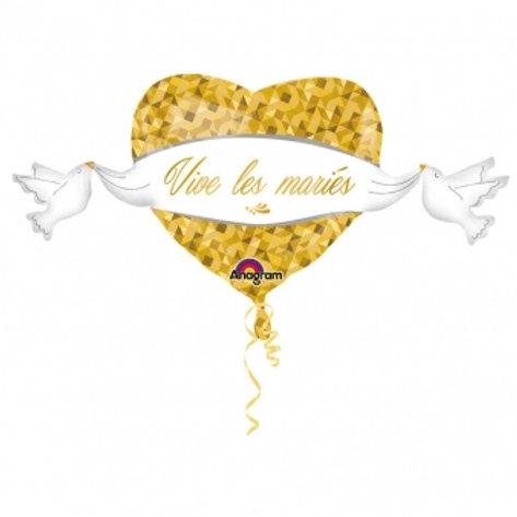 """XXL Folienballon """"Vive les mariés"""""""