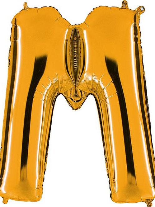 """Riesenbuchstabe """"M"""" - gold"""