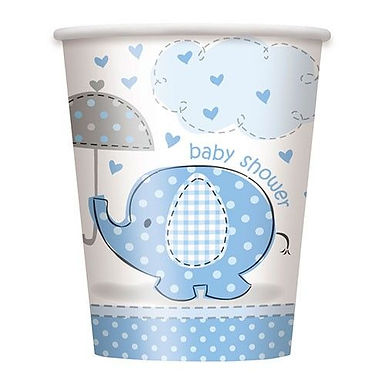 Becher Baby Shower / hellblau