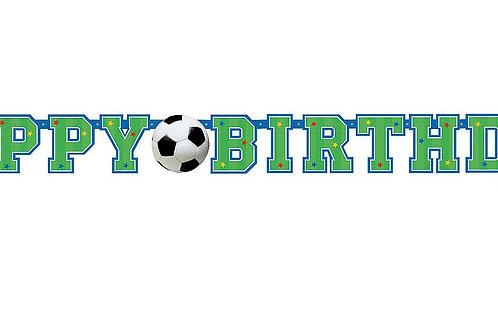 """Girlande """"Happy Birthday"""" mit Fußballmotiv"""