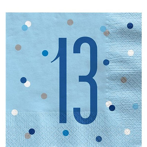 "Servietten  ""13"" in hellblau"