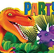 """hier finden Sie Dekorations-Accessoires zum Thema """"Dinosaurier Party"""""""