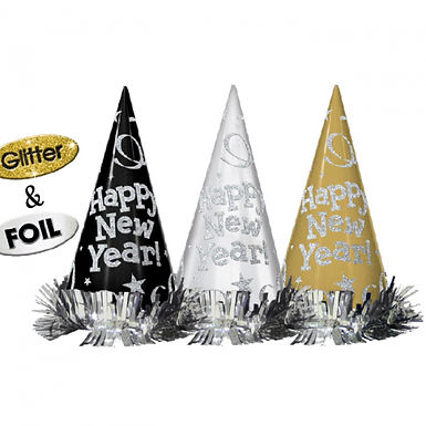 """Partyhüte """"Happy New Year"""", 12er Pack"""