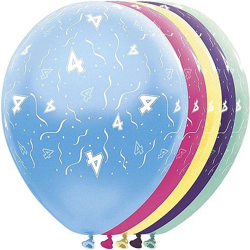 "Latexballons ""4"" bunt / Sortiment 1"