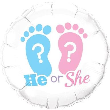 "Folienballon ""He or She?"""