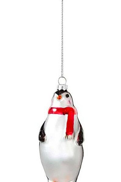 """Christbaum-Schmuck """"Pinguin mit rotem Schal"""""""