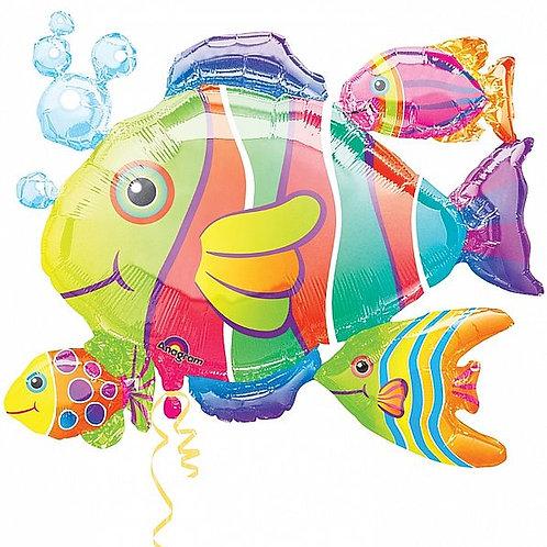 XXL-Folienballon Tropischer Fischschwarm