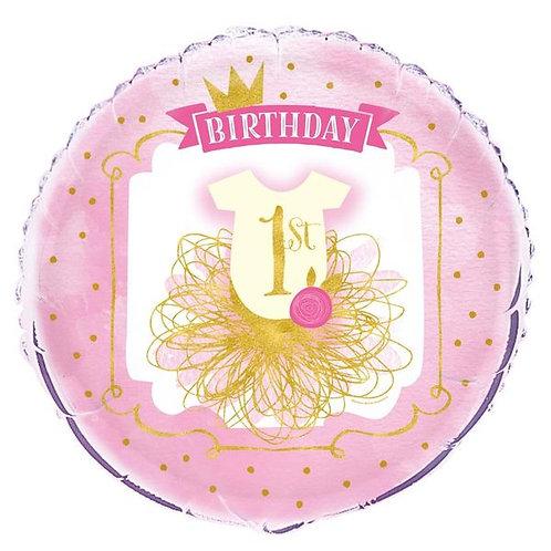 Folienballon 1. Geburtstag Prinzessin