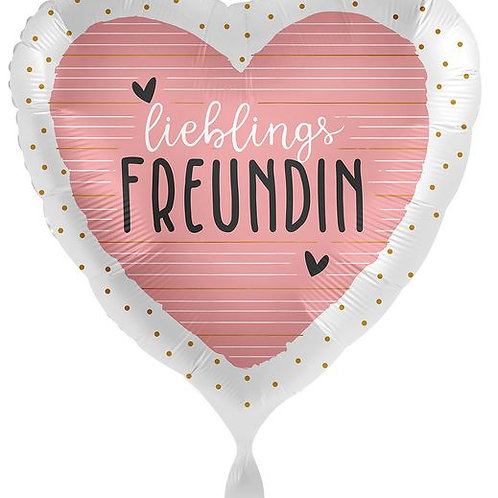 Folien-Herzballon: Lieblings-Freundin