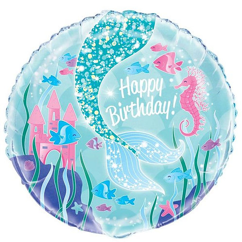 Folienballon Happy Birthday Meerjungfrau