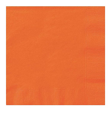 Servietten einfarbig orange