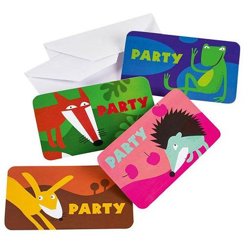 Einladungskarten Waldtiere