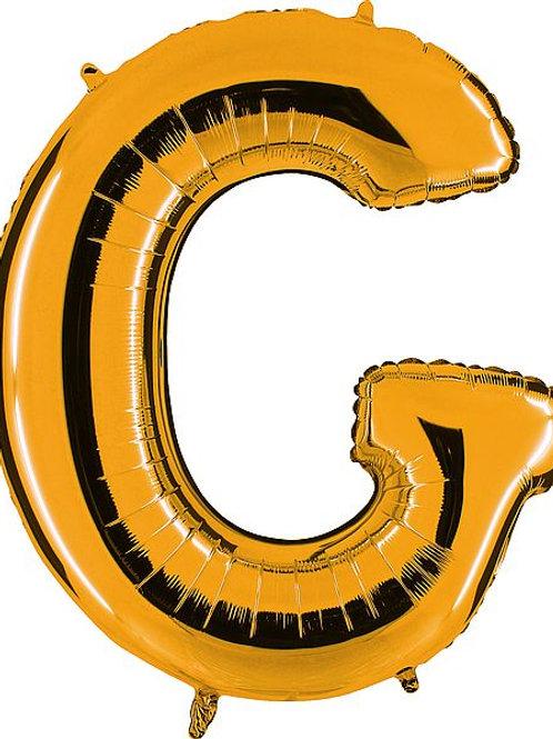 """Riesenbuchstabe """"C"""" - altgold"""
