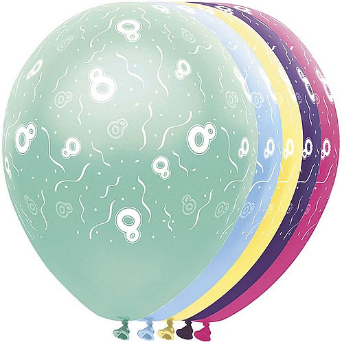 "Latexballons ""8"" bunt / Sortiment 1"