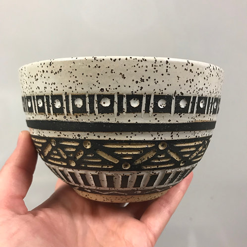 White Tribal Bowl
