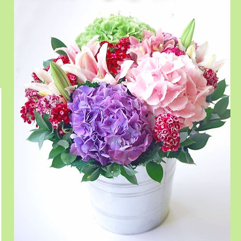 Hydrangea Potted Bouquet