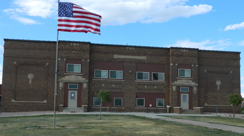 Flag on site of DPEC lodging