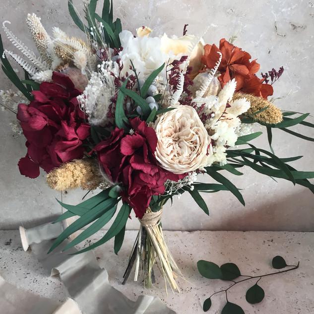 gelin buketi, şoklanmış,kuru çiçek