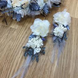 mavi çiçek küpe