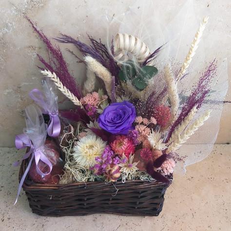 sepet saksı çiçek