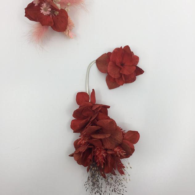 kırmızı çiçek küpe