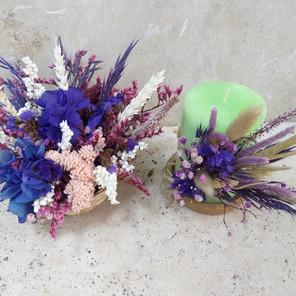 Cupcake çiçek-Kokulu mum Paketi