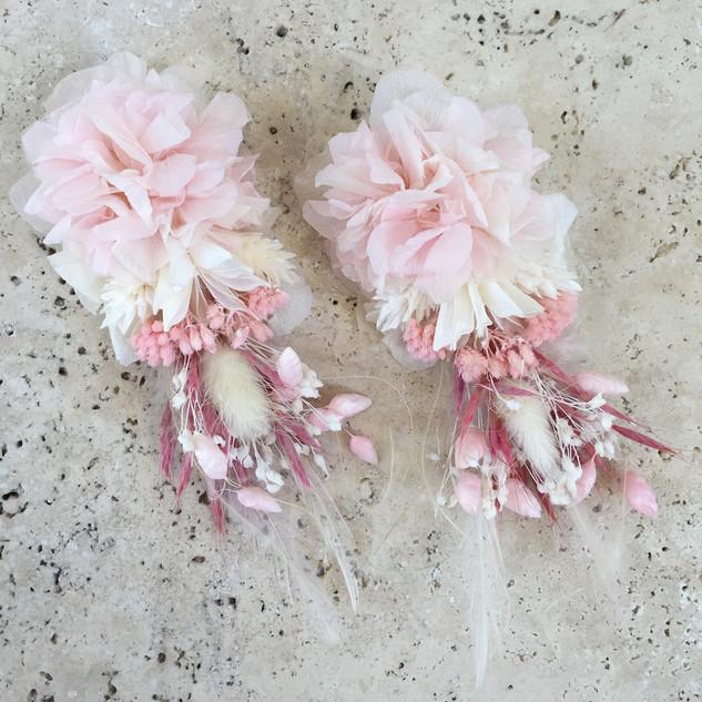 Çiçek küpe pembe