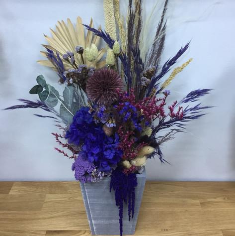 mor saksı çiçek