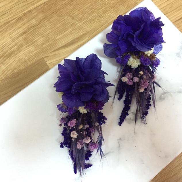 Çiçek küpe mor