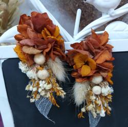 Çiçek küpe kahve-tarçın