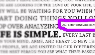 All Emotions are Beautiful