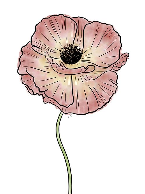 Poppy Pink - Printable Art