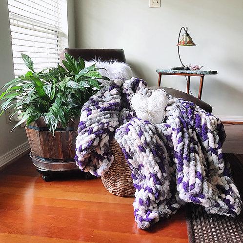 Blanket - Purple Multi - 55x75