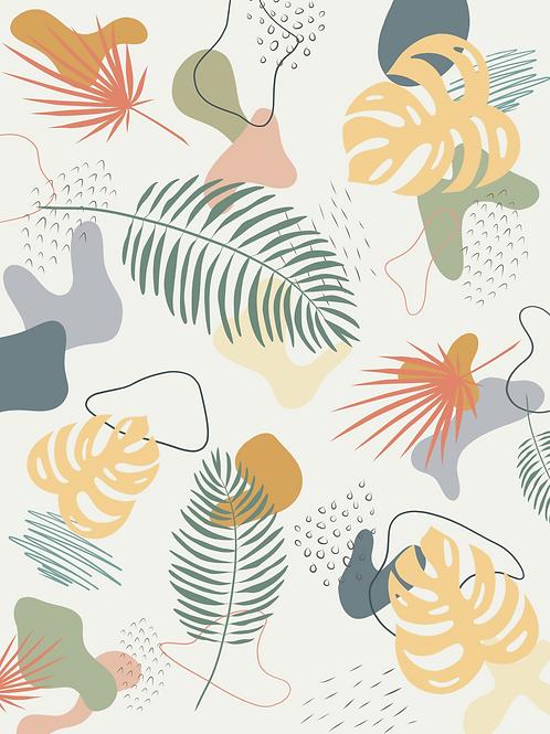 Palm Collage Green - Printable Art