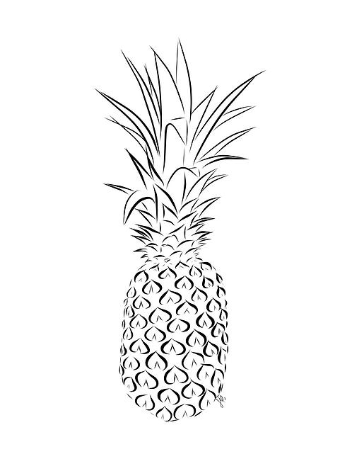 Pineapple - Printable Art