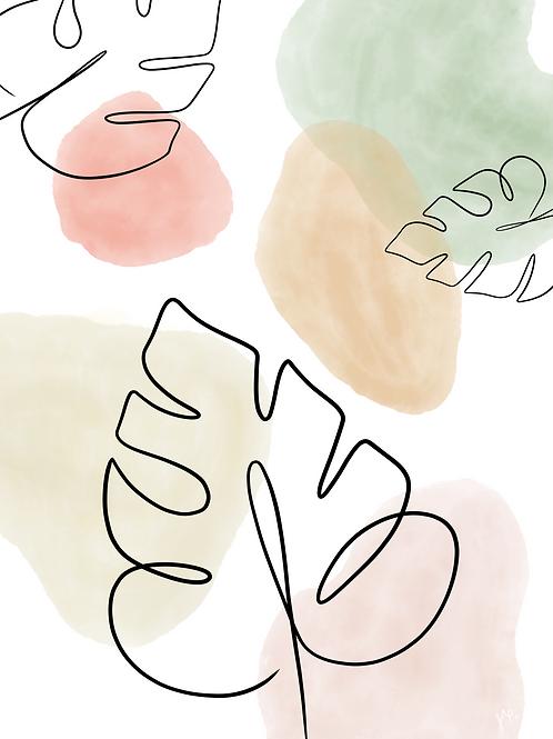 Watercolor Leaf 1 - Printable Art