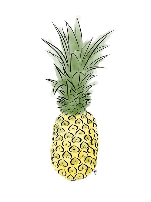 Pineapple Color - Printable Art