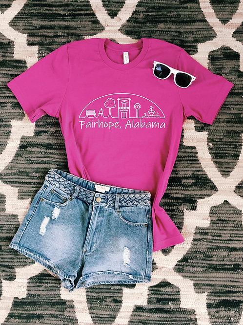 Fairhope T-Shirt - Azalea Pink