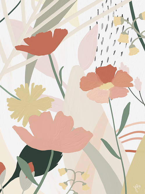 Flower Collage 1 - Printable Art