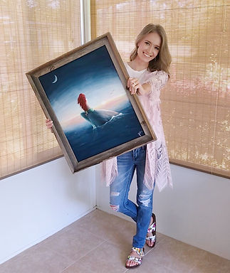 Fairhope Alabama Artist Mermaid Painting