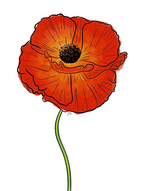 Poppy Red - Printable Art