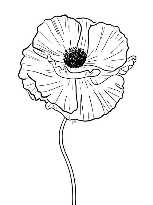 Poppy - Printable Art