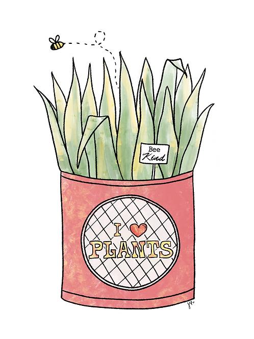 Bee Kind Plant - Printable Art