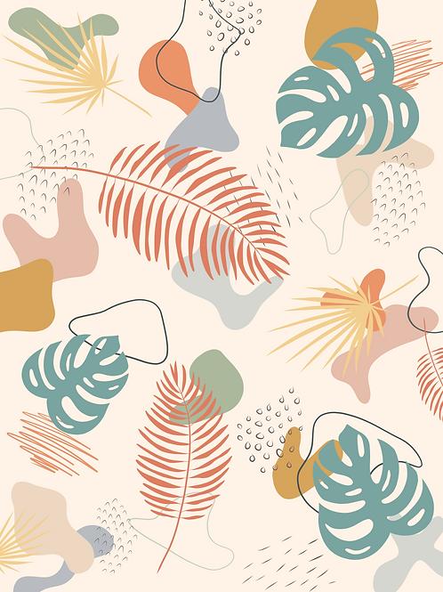Palm Collage Orange - Printable Art