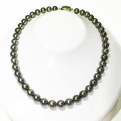 宝石 黒真珠ネックレス