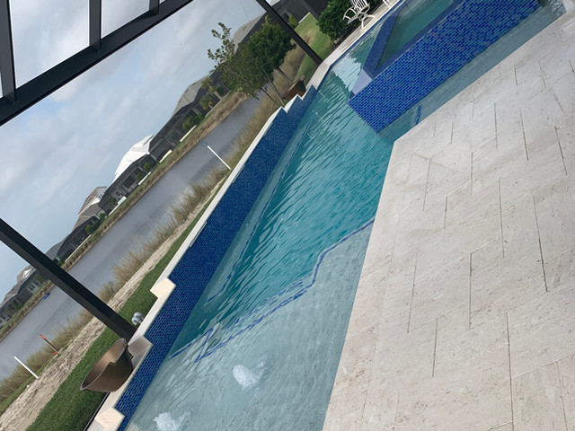 New pool and spa