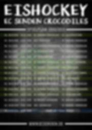 Spielplan_2018-2019_EC Senden Crocodiles