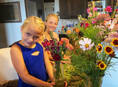 Beautiful girls and flowers!